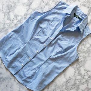 Ralph Lauren Blue Checkered Button Shirt